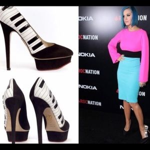 Charlotte Olympia piano pumps seen on Katy Perry